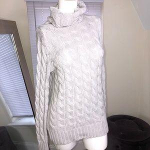 Banana republic cable knit slate gray sweater